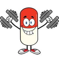 Pill Cartoon vector image