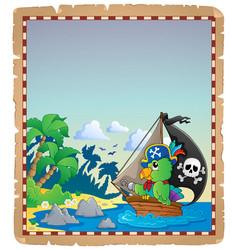 Pirate theme parchment 2 vector