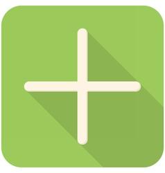 Plus icon vector