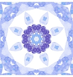 Purple and blue circle lace ornament snowflake vector image vector image