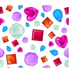 realistic precious stones pattern vector image