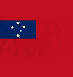 Samoa paper flag vector image