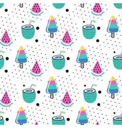 Seamless summer pattern vector image