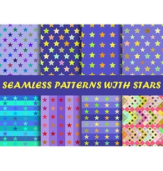 Seamless with colorful stars vector