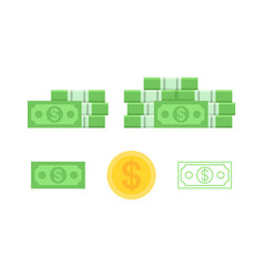 set banknotes dollar vector image