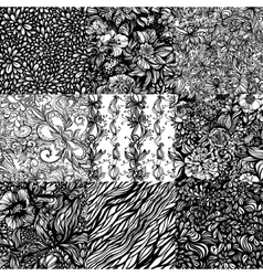 Set monochromatic abstract entangle seamless vector