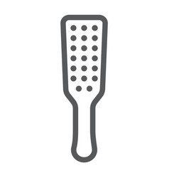 Sex spanking paddle line icon sex toy and adult vector