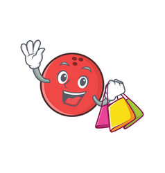 Shopping bowling ball character cartoon vector