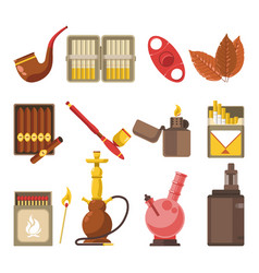 Smoking appliances and cigarettes accessories vector