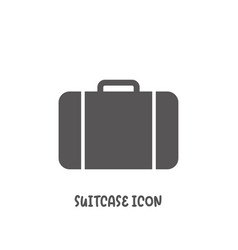 suitcase icon simple flat style vector image