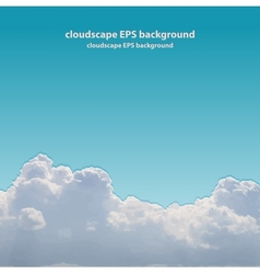 Summer beautiful cloudscape vector image