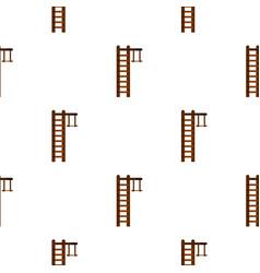 Swedish ladder pattern flat vector