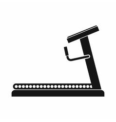 Treadmill icon simple style vector