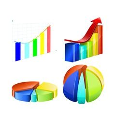 Types of diagrams vector