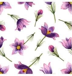 watercolor seamless pattern with violet vector image