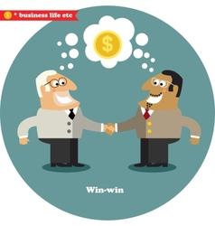 Business handshake big deal vector image
