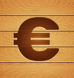 Euro on wooden background vector