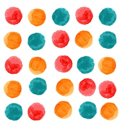 watercolor circles seamless pattern vector image vector image