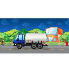 Cartoon Oil Truck vector image vector image