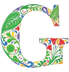 Floral G vector image