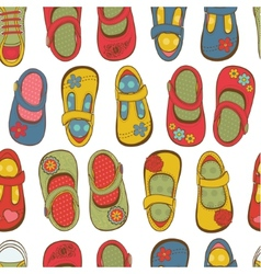 Girl shoes pattern vector image vector image