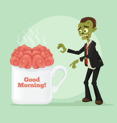 happy smiling business zombie man vector image vector image