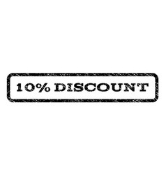 10 percent discount watermark stamp vector image