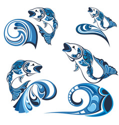 collection of fishs vector image