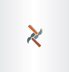 hammer abstract icon vector image