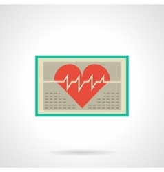 Heart monitor flat color icon vector image
