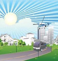 summer city vector image vector image