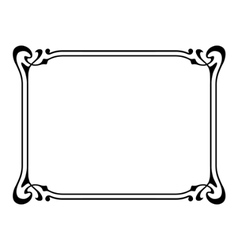 art nouveau ornamental decorative frame vector image vector image