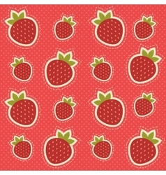 Background with strawberries vector image vector image