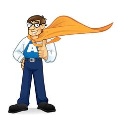 cartoon superhero geeks vector image vector image
