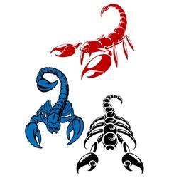 Dager scorpion tattoos vector image