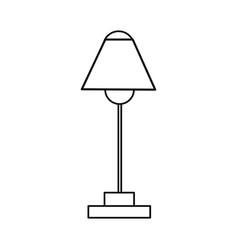 desk lamp electric bulb light equipment vector image