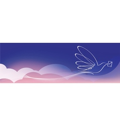 dove with letter vector image vector image