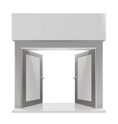 the door to the store on a white background vector image vector image