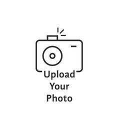 thin line black camera logo like upload your photo vector image vector image