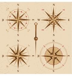 vintage compasses set vector image vector image