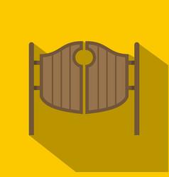 vintage western swinging saloon doors icon vector image vector image
