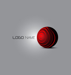 3d logo abstract vector image