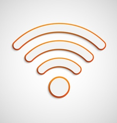 3D wifi icon vector