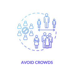Avoid crowds concept icon vector
