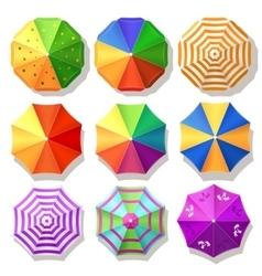 Beach umbrellas vector
