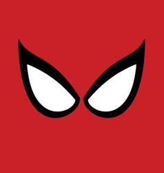 Big eyes superhero mask vector