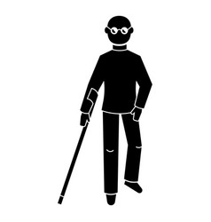 Blind man icon simple style vector