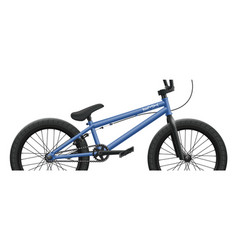 blue bmx bicycle - right side close-up vector image