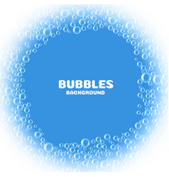 Blue soap or water bubbles background vector