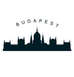 budapest parliament silhouette - hungarian vector image